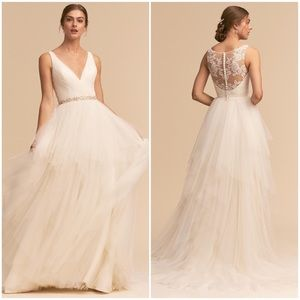 BHLDN 'Majestic' Wedding Dress NWT Ivory Tulle